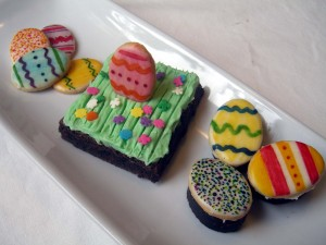 Easter cookie charms and brownies