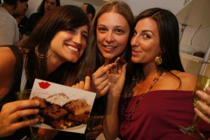 Enjoying Sweet Muse Brownies at the Angelique Velez Website Launch Party