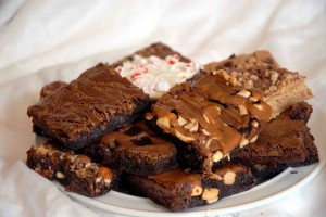 Plate of brownies - Brownie of the month