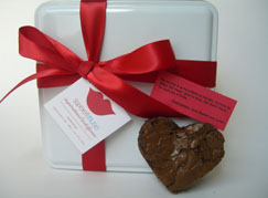 Brownie hearts with quotes about love (send us yours and we'll include them.)